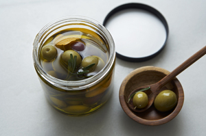Easy Everyday: Marinated Olives with Rosemary and Orange Peel
