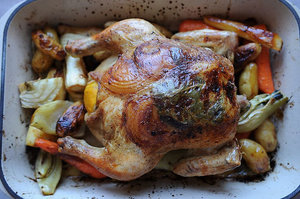 Make This Tonight: Lemon and Onion Roasted Chicken