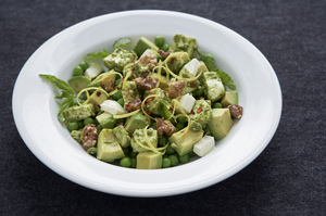 Make This Tonight: Lemony Pea Avocado Salad with Mozzarella