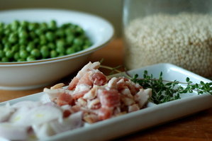 Easy Everyday: Israeli Couscous with Peas and Bacon