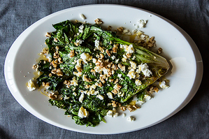 Easy Everyday: Wilted Escarole with Feta, Walnuts and Honey