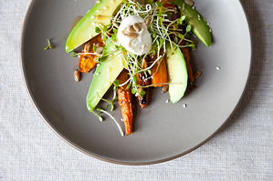 Dinner Tonight: Carrot Avocado Salad + Citrus Couscous