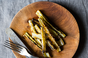 Dinner Tonight: Patty Melts + Grilled Swiss Chard Stems