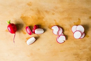 Easy Everyday: Mushroom, Radish and Hearts of Palm Skewers