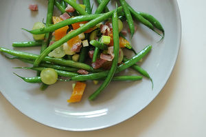 Easy Everyday: Green Beans with Apricots and Serrano Ham