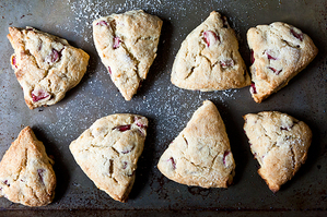 Easy Everyday: Barley and Roasted Plum Scones