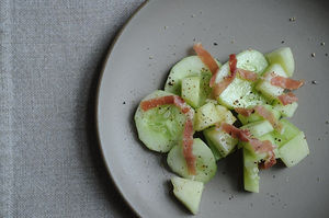 Easy Everyday: Quick-Pickled Cucumber-Melon Salad