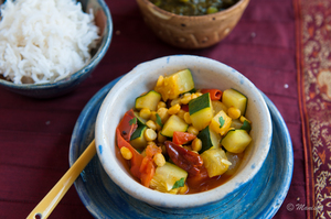Indian Food Rocks: Zucchini with Chana Dal