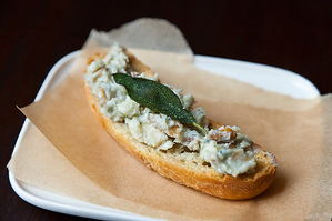 Easy Everyday: Walnut Gorgonzola Crostini with Crumble Fried Sage