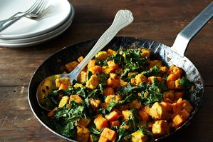 The New Veganism: Sweet Potato Tempeh Hash