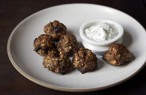 Easy Everyday: Lamb Meatballs with Yogurt Sauce