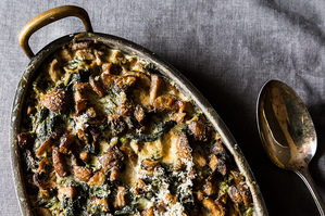 Make It Meatless: Smoky Mushroom Gratin + Honey-Pomegranate Mulled Wine