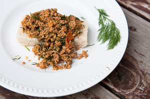 Indian Food Rocks: Ground Turkey with Dill