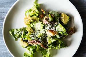 Dinner Tonight: Steak + Avocado Caesar Salad