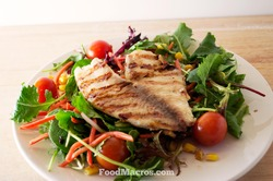 tilapia on a bed of salad