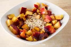 Dry oats with a nectarine