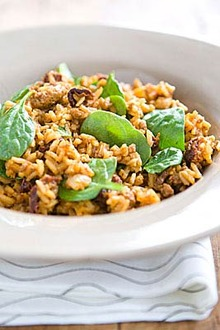 Chorizo and Sun-Dried Tomato Rice with Spinach Recipe