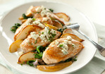 Baked Chicken with Spinach, Pears and Blue Cheese Recipe