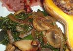 Onion, Mushroom and Spinach Saute (For Two) Recipe