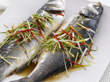 Chinese-style Steamed Bass Recipe