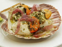 Grilled Scallops with Prosciutto and Lime Recipe
