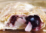 Pear and Black Heart Cherry Strudel Recipe