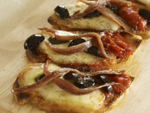 Anchovy and Olive Bruschette Recipe