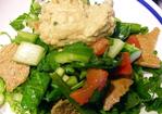 Fattoush Bread Salad With Hummus Recipe