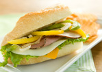 Smoked Ham Sandwiches with Marinated Peppers and Onions Recipe