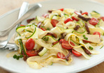 "Raw Vegetable ""Pasta"" with Tomatoes and Herbs Recipe"