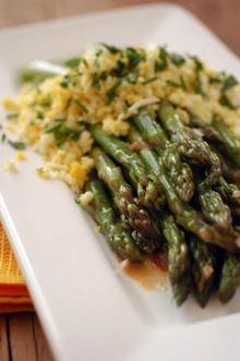 Asparagus with Mustard-Herb Vinaigrette Recipe
