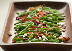 Green Beans with Goat Cheese, Cranberries and Bacon Recipe