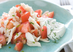 Summer Tomato and Crab Salad Recipe