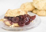 Corn Shortcakes with Cherry Compote Recipe