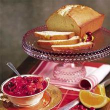 Ginger Pound Cake with Glazed Cranberry Ambrosia Recipe