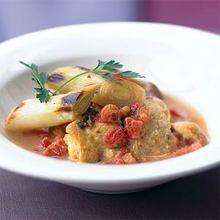 Chicken and Leeks Braised in Wine Recipe