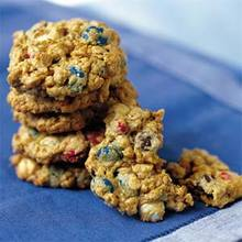 Chewy Red, White, and Blue Cookies Recipe