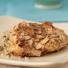 Almond-Crusted Chicken with Scallion Rice Recipe