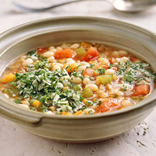 Wheat Berry Soup with White Beans and Rosemary Recipe