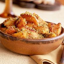 Saffron Potatoes with Almonds Recipe