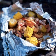 Barbecued Lime Shrimp and Corn Recipe