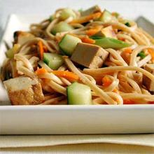 Udon Noodles with Sesame and Tofu Recipe