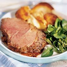 Beef Rib Roast and Yorkshire Pudding from the Grill Recipe