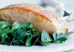 Crispy Salmon with Herb Salad Recipe