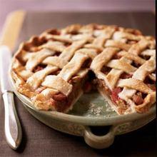 Lattice-Topped Rhubarb Pie Recipe