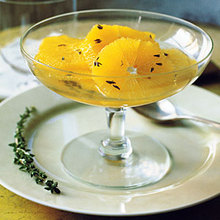 Sliced Oranges with Thyme Syrup Recipe