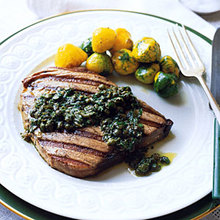 Tuna Steaks with Lemon Caper Sauce Recipe