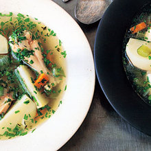 Poached-Chicken Soup Recipe