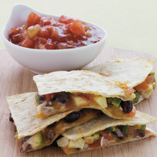 Zucchini, Corn, Black-Bean, and Jack-Cheese Quesadillas Recipe