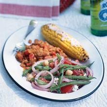 Green Bean, Chickpea, and Tomato Salad Recipe